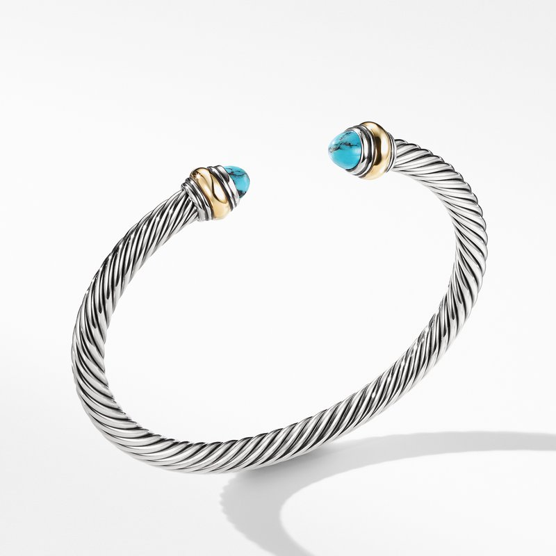 David Yurman Bracelet with Turquoise and 14K Gold