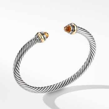 Cable Classic Bracelet with Citrine and Gold