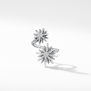 Starburst Open Ring with Diamonds
