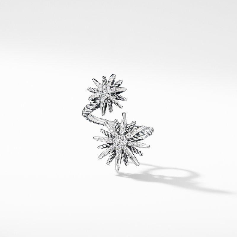 David Yurman Starburst Open Ring with Diamonds