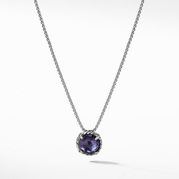 Chatelaine® Pendant Necklace with Black Orchid