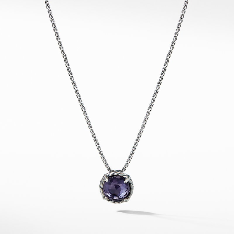 David Yurman Chatelaine® Pendant Necklace with Black Orchid