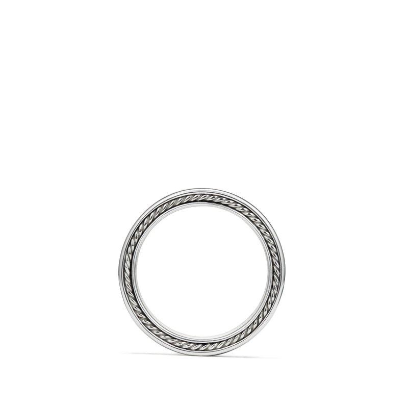 David Yurman Streamline Three-Row Band Ring with Black Diamonds