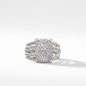 Tides Statement Ring with Pavé Plate