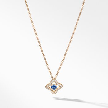 Necklace with Blue Sapphire and Diamonds in 18K Gold