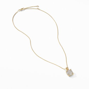 Chatelaine® Pendant Necklace in 18K Yellow Gold with Full Pavé Diamonds