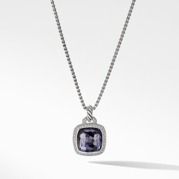 Pendant with Lavender Amethyst and Diamonds