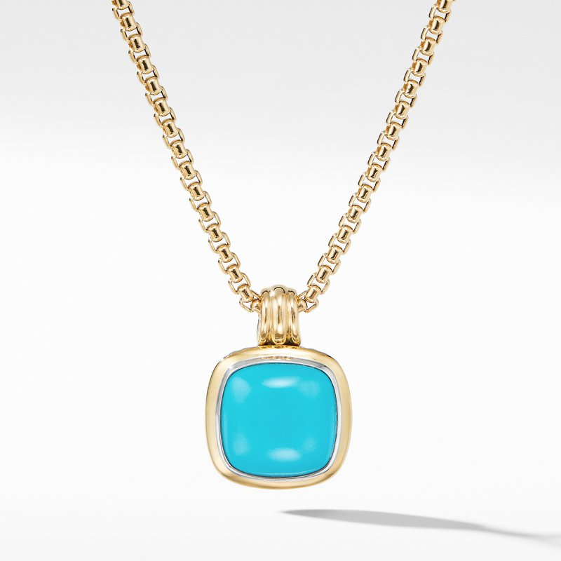 David Yurman Albion® Pendant with Reconstituted Turquoise and 18K Yellow Gold
