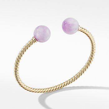 Solari XL Cable Bracelet in 18K Yellow Gold with Kunzite