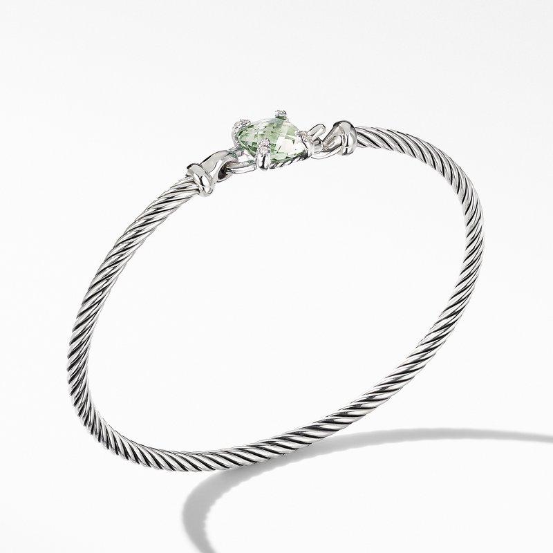 David Yurman Chatelaine® Bracelet with Prasiolite and Diamonds