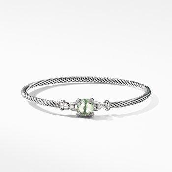 Chatelaine® Bracelet with Prasiolite and Diamonds