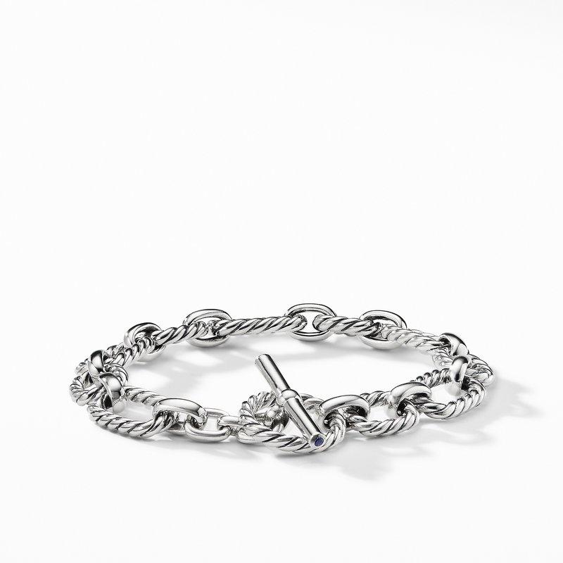 David Yurman Cushion Link Bracelet with Blue Sapphires