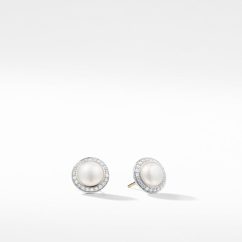 David Yurman Pearl Earring with Diamonds