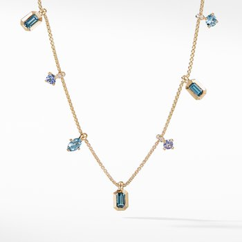 Novella Necklace in Hampton Blue Topaz and Aquamarine with Diamonds