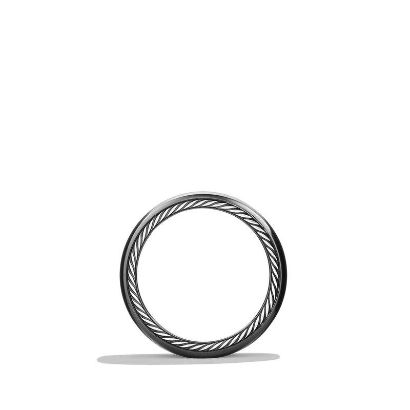 David Yurman Streamline Wide Band Ring with Black Titanium