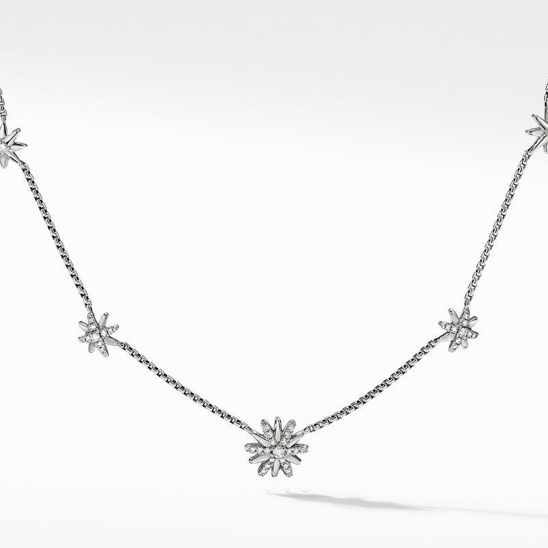 David Yurman Starburst Station Chain Necklace with Diamonds