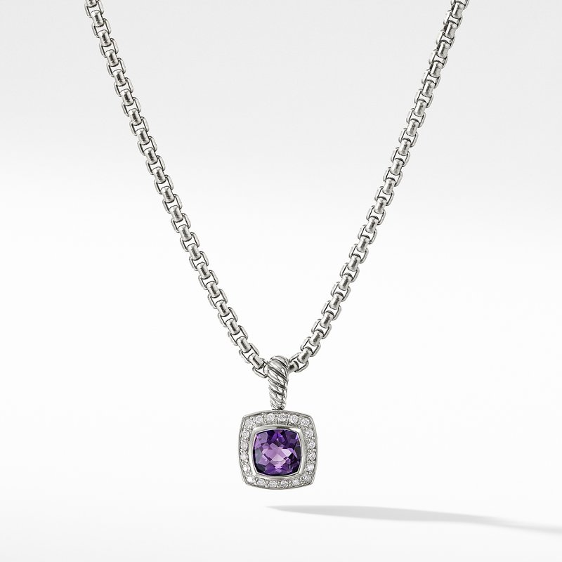 David Yurman Pendant Necklace with Amethyst and Diamonds