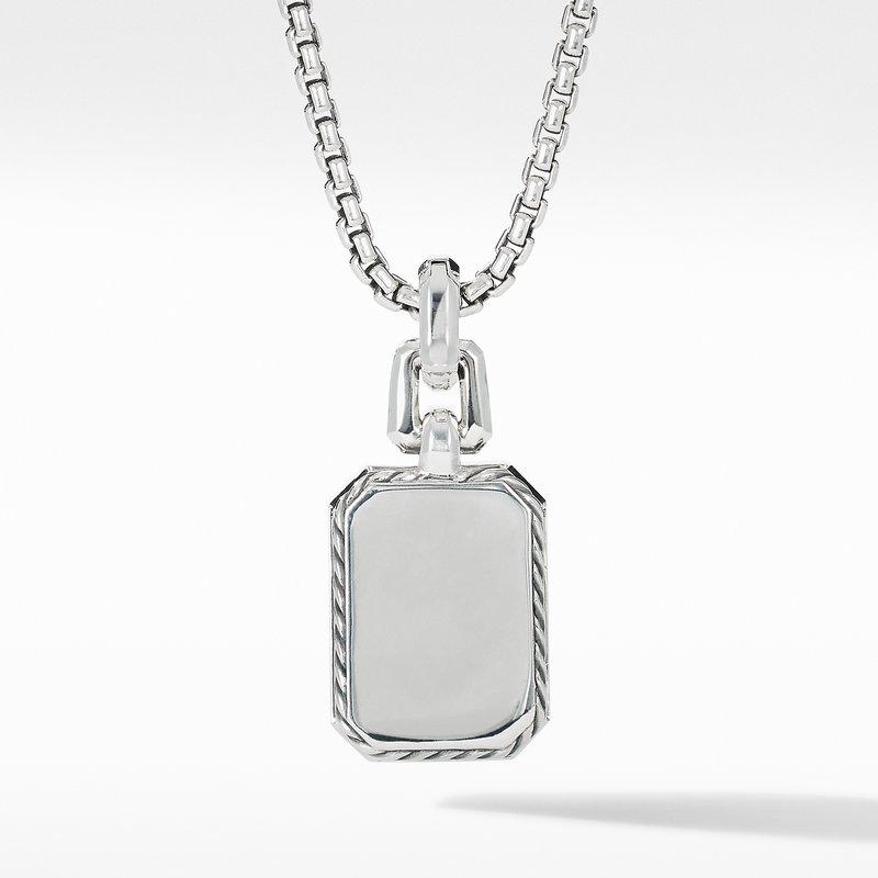 David Yurman Novella Pendant with Blue Topaz, Sapphires and Pavé Diamonds