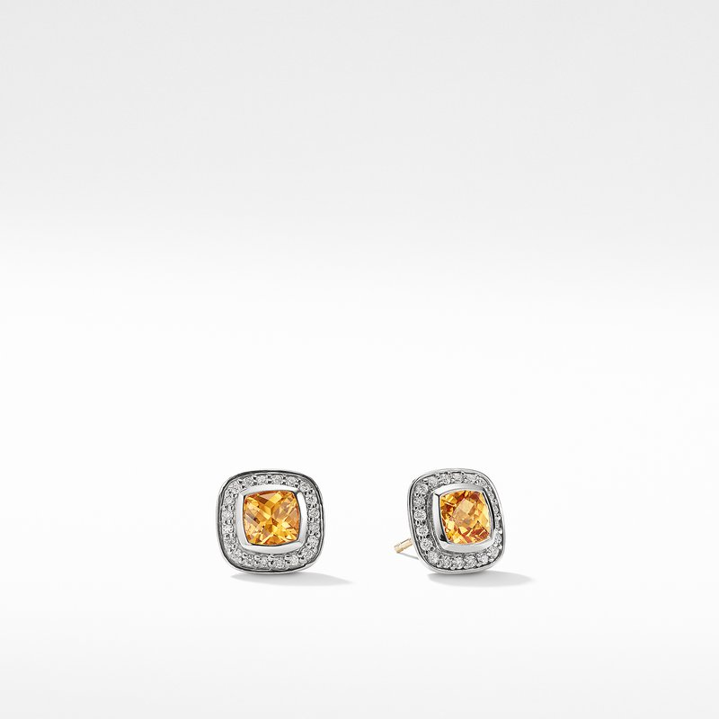 David Yurman Petite Albion Earrings with Citrine and Diamonds