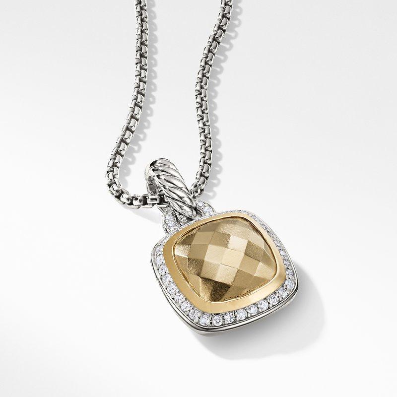 David Yurman Pendant with Diamonds and 18K Gold