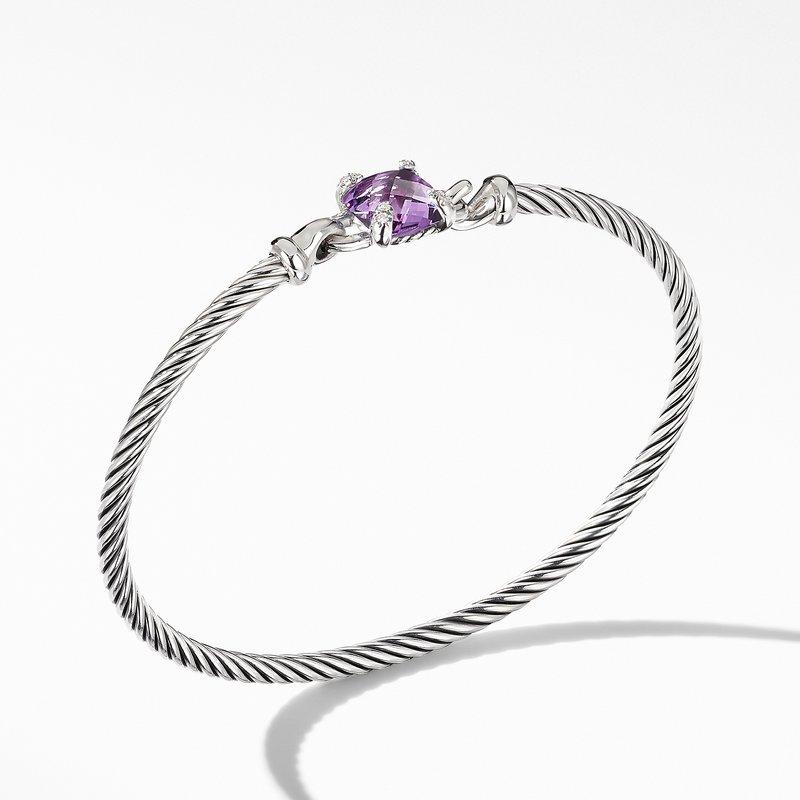 David Yurman Chatelaine® Bracelet with Amethyst and Diamonds
