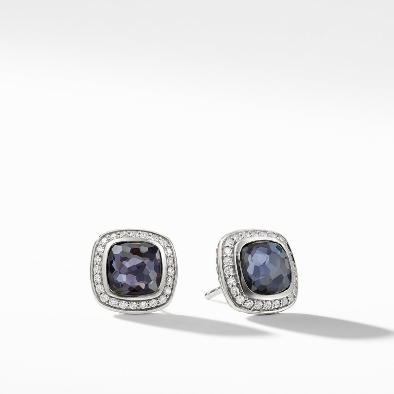 David Yurman Albion® Earrings with Black Orchid and Diamonds