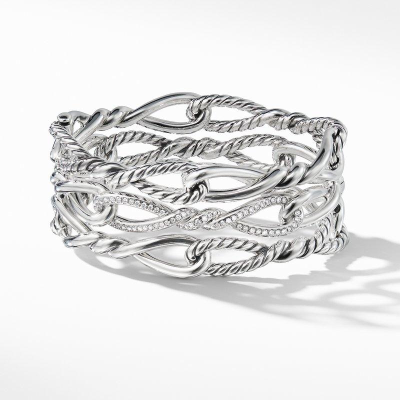 David Yurman Continuance Multi Row Cuff with Diamonds