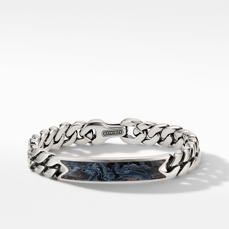David Yurman Curb Chain ID Bracelet with Pietersite