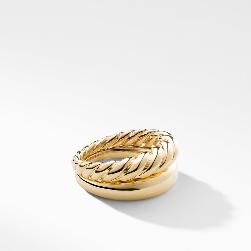 David Yurman Pure Form Stack Rings in 18K Gold