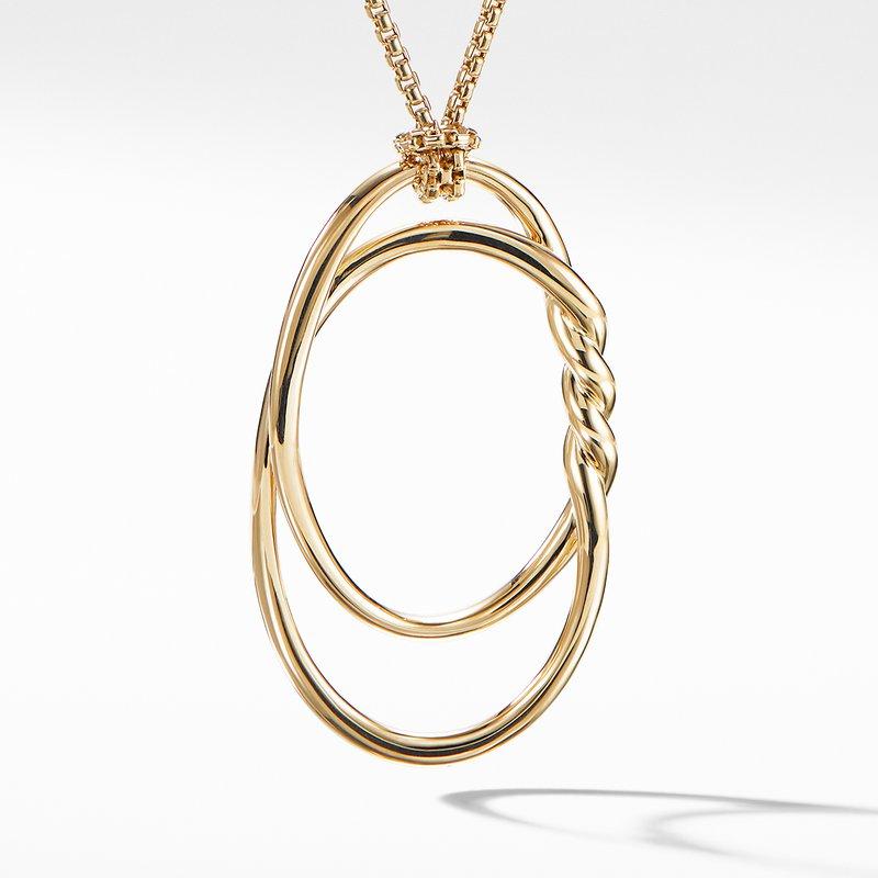 David Yurman Continuance Pendant Necklace in 18K Gold