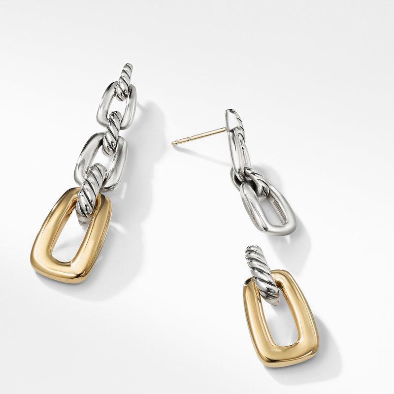 David Yurman Wellesley Link Drop Earrings with 18K Gold
