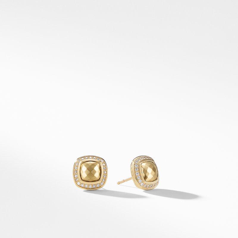 David Yurman Earring with 18K Gold Dome and Diamonds