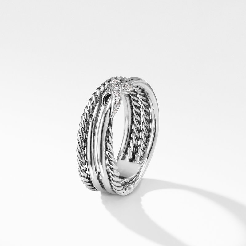 David Yurman X Collection Ring with Diamonds