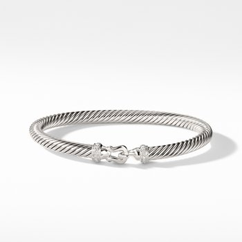 Cable Buckle Bracelet with Diamonds