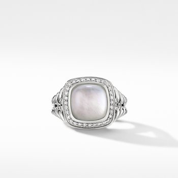 Albion® Ring with Rock Crystal and Diamonds