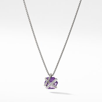 Necklace with Amethyst and Diamonds