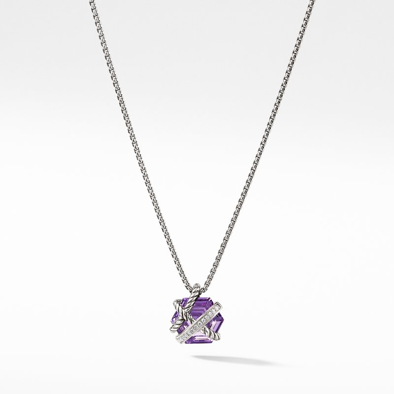 David Yurman Necklace with Amethyst and Diamonds