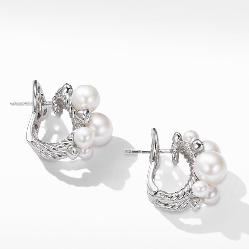 David Yurman Pearl Cluster Earring with Diamonds