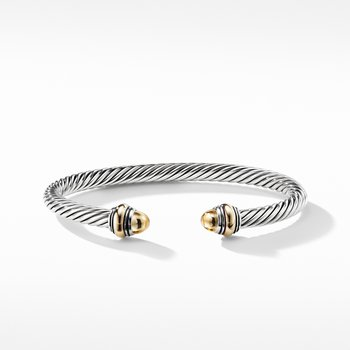 Cable Classic Bracelet with Gold