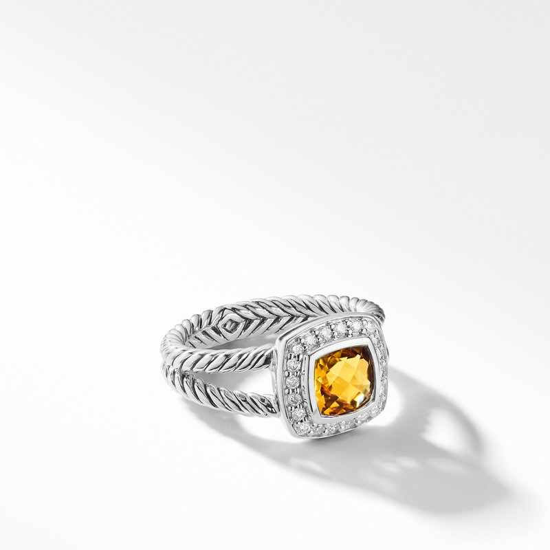 David Yurman Petite Albion® Ring with Citrine and Diamonds