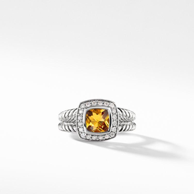David Yurman Petite Albion® Ring with Citrine and Diamonds