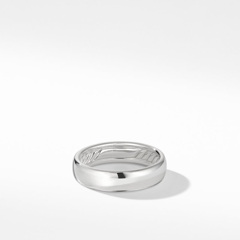 David Yurman DY Classic Band Ring in 18K White Gold