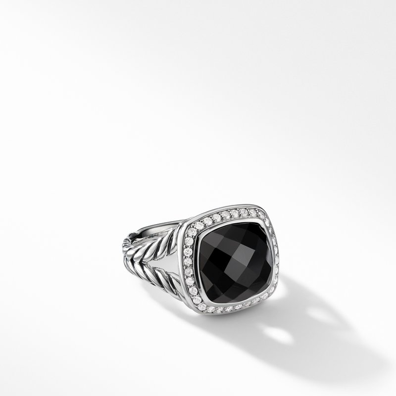 David Yurman Albion® Ring with Black Onyx and Diamonds