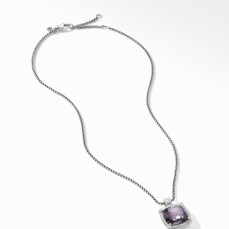 David Yurman Chatelaine® Pavé Bezel Pendant Necklace with Black Orchid