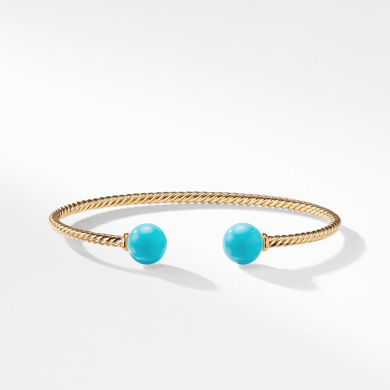 David Yurman Solari Bead Bracelet with Turquoise in 18K Gold