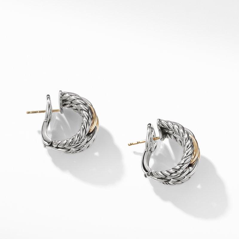 David Yurman Wellesley Link Hoop Earrings with 18K Gold