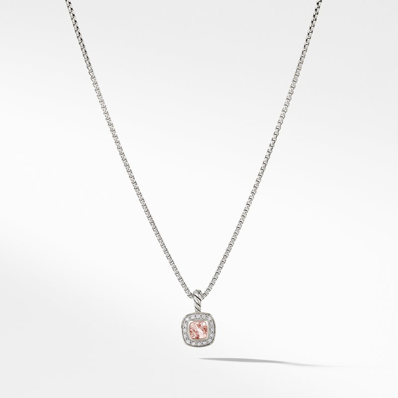 David Yurman Albion® Kids Necklace with Morganite and Diamonds, 4mm