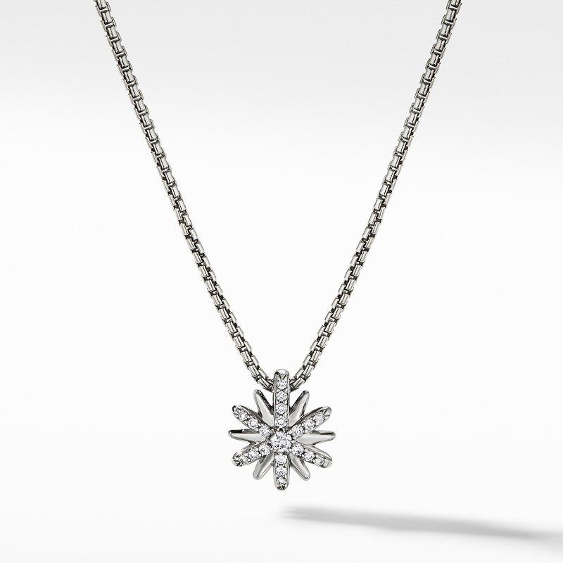 David Yurman Petite Starburst Station Necklace with Diamonds