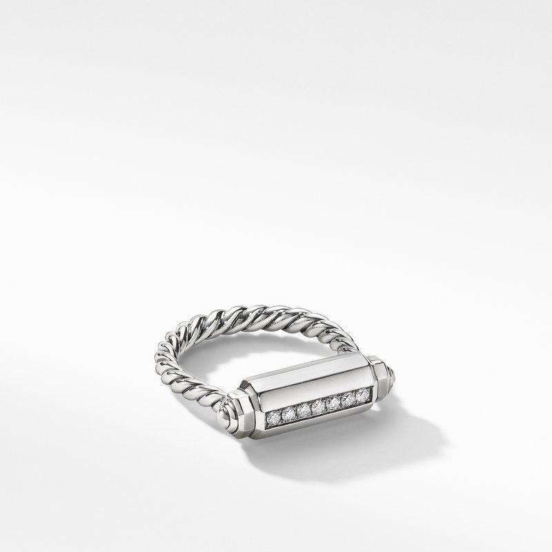David Yurman Lexington Barrel Ring with Diamonds