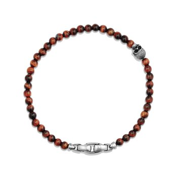Spiritual Beads Skull Bracelet with Red Tigers Eye